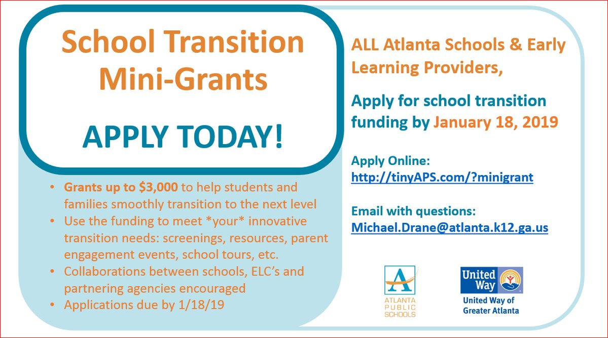 Free Money? APply today! - OFFICE OF EARLY LEARNING